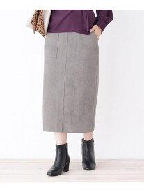 【SALE/24%OFF】grove マシュマロタッチスウェードタイトスカート グローブ スカート スカートその他 グレー ブラウン ピンク