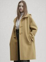 wool beaver rever duffel coat