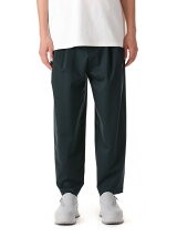 ATTACHMENT/PONTE JERSEY TWO PLEATS TAPERED FIT TROUSER
