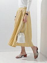 □UWBT LINEN フレア スカート