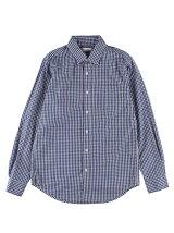 Men's ギンガクチェック 長袖レギュラーシャツ
