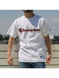 【SALE/50%OFF】coen Champion(チャンピオン)アクションスタイルロゴプリントTシャツ(C3-N303) コーエン カットソー Tシャツ ホワイト