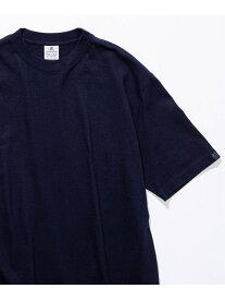 EDIFICE 【LOOPWHEELER for LOWERCASE】 ツリアミテンジク ビッグTシャツ エディフィス カットソー Tシャツ ネイビー ブラック ホワイト ベージュ【送料無料】
