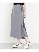 KBF+ サイドリボンスカートパンツ