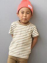 【coen キッズ / ジュニア】ボーダーポケットTシャツ(100〜150cm)
