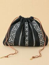 【WEB限定】【CASSELINI】エンブロイダリー巾着バッグ