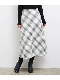 【SALE/10%OFF】ROPE' PICNIC プレミアムフィールモールチェックロングスカート ロペピクニック スカート スカートその他 ホワイト グレー ベージュ【送料無料】
