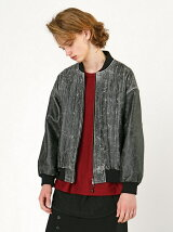 LEATHER RIB BLOUSON