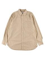 Men's コットンブロード 長袖ビッグシルエットシャツ