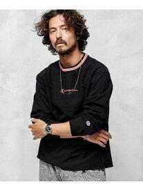 【SALE/10%OFF】Champion 別注RWL/ST-SHIRT ナノユニバース カットソー Tシャツ ブラック グレー ホワイト【送料無料】