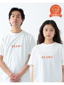 BEAMS MEN BEAMS / ロゴ Tシャツ 21SS ビームス メン カットソー Tシャツ ホワイト レッド ネイビー【送料無料】
