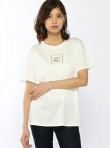 【BROWNY】(L)メタリックロゴプリントTシャツ