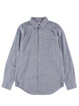 Men's コットンシャンブレー 長袖レギュラーシャツ