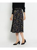 [L]レトログラスプリントスカート
