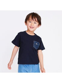 COMME CA ISM デニムポケット Tシャツ コムサイズム カットソー