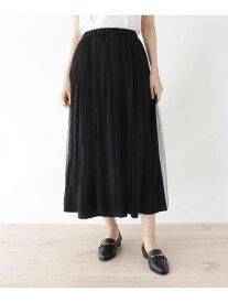 【SALE/48%OFF】SHOO・LA・RUE 【M-L】リバーチュール*プリーツ2WAYスカート シューラルー スカート スカートその他 ブラック グリーン ベージュ