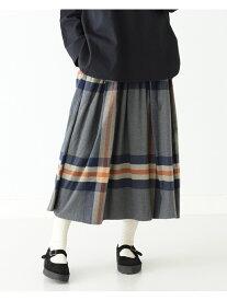 BEAMS BOY BEAMS BOY / ビッグ タータン スカート ビームス ウイメン スカート ロングスカート ブラウン グレー【送料無料】
