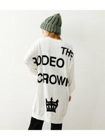 【SALE/20%OFF】RODEO CROWNS WIDE BOWL インターシャLOGOニットワンピース ロデオクラウンズワイドボウル ワンピース ワンピースその他 ホワイト オレンジ ネイビー ブルー【送料無料】