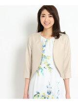 〔洗える〕ボレロ風カラーレスジャケット