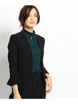 [L]ストレッチカラーレスジャケット