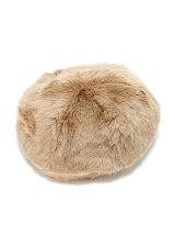 フェイクファーベレー帽