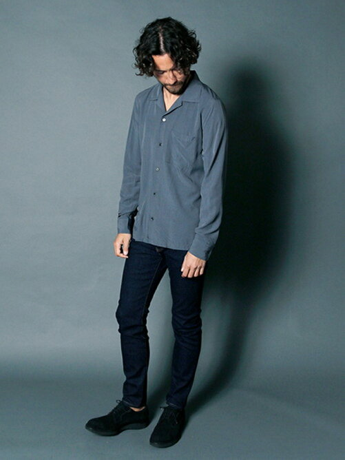 RAYON OPEN COLLAR SHIRTS L/S