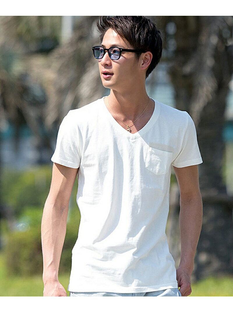 CavariA CavariA ピグメント加工半袖Tシャツ シルバーバレット カットソー