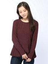(W)総柄ペプラムシャツ・ブラウスDUC3
