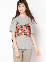 (W)Aquarelle Floral Mix Media Tee