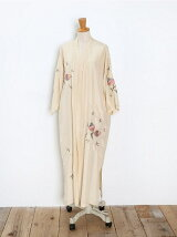 SILK EMB GOWN