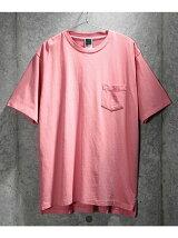 【ユニセックス】ピグメント加工 ポケットクルーネックTシャツ
