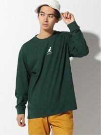 WEGO 0/(M)別注カンゴール刺繍ロンT ウィゴー カットソー Tシャツ グリーン ベージュ ブラック ホワイト