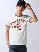 [JOEY FACTORY]リブリンガーTシャツ(UNIVERSITY)
