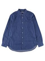 Men's 4.5ozデニム 長袖ビッグシルエットシャツ