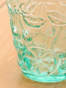 フルーツエンボスグラス