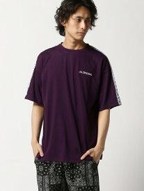 【SALE/22%OFF】WEGO (M)別注KappaテープロゴT(S) ウィゴー カットソー Tシャツ パープル ブラック ホワイト