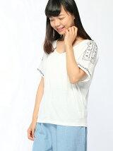 Lugnoncure/発砲刺繍プリントTシャツ