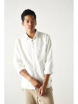 コンチョ釦使いストレッチOX長袖シャツ