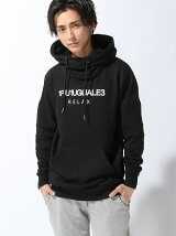 (M)【1piu1uguale3 RELAX】Relaxed Fit Biker Hooded