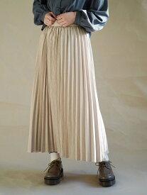 【SALE/30%OFF】179/WG ピーチ起毛プリーツスカート イチナナキューダブリュジー スカート ロングスカート ホワイト ベージュ グレー
