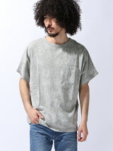 [JOEY FACTORY]総柄ビッグクルーネックTシャツ