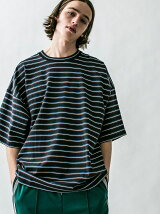 <monkey time>  MULTI BORDER WIDE TEE/Tシャツ