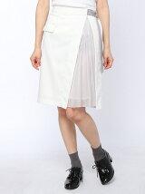 ラップ風プリーツ使いスカート