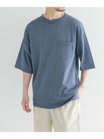 URBAN RESEARCH Lab. ニットTシャツ(5分袖) アーバンリサーチ ニット ニットその他 ブルー ベージュ グレー【送料無料】