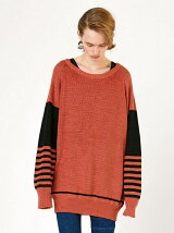 LINEN BORDER SLEEVE PULL-OVER