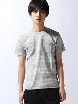 [JOEY FACTORY]ネイティブ柄ボーダーTシャツ