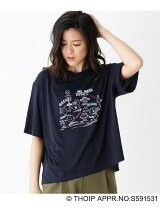 Mr. Men Little Miss×HusHusH Tシャツ
