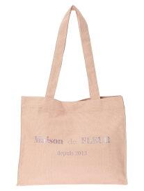 Maison de FLEUR ロゴラメプリントミニスクエアトートバッグ メゾン ド フルール バッグ トートバッグ ピンク ベージュ ブラウン
