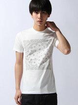 [JOEY FACTORY]バンダナプリントクルーネックTシャツ