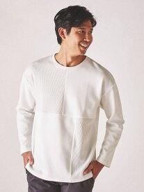 【SALE/40%OFF】SPENDY'S Store ワッフルポンチ切替T スペンディーズストア カットソー Tシャツ ホワイト グレー
